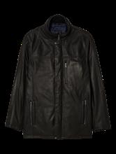 Image sur Veste cuir texturée et doublure détachable