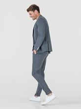 Bild von Jersey Anzug in melierter Optik