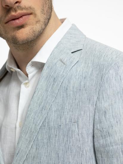 Image sur Veston Slim Fit en lin à rayures