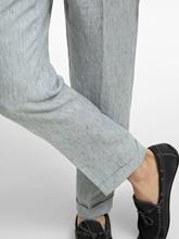 Bild von Hose aus Leinen mit Streifen