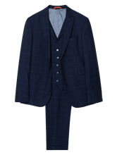 Image sur Costume 3 pièces Slim Fit à carreaux grille