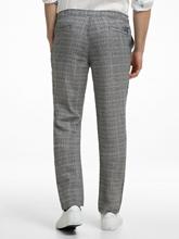 Image sur Pantalon motif Prince de Galles et cordon de serrage HERRERA