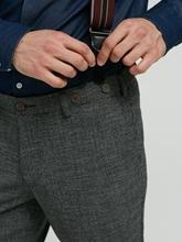 Image sur Pantalon à carreaux  motif pied-de-poule et bretelles KEVIN