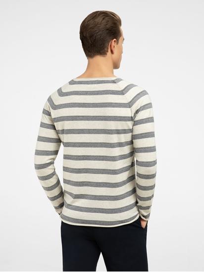 Bild von Pullover im Slim Fit mit Streifen