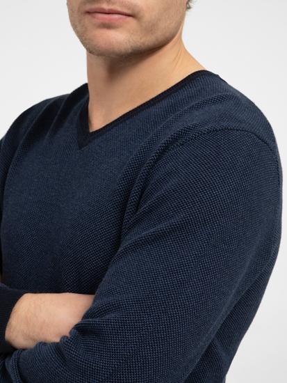 Bild von Pullover im Custom Fit in melierter Optik