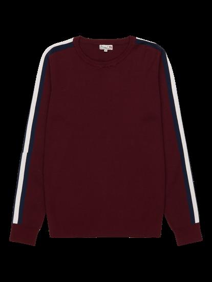 Bild von Pullover im Slim Fit mit Streifen am Ärmel