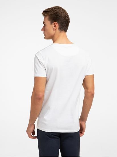 Image sur T-Shirt mit Streifen im Slim Fit