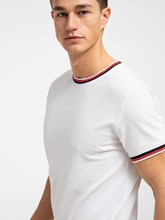Image sur T-Shirt aus Piqué im Slim Fit