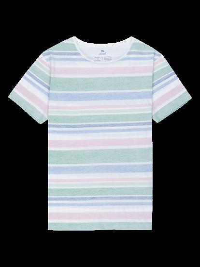 Image sur T-shirt Slim Fit à rayures