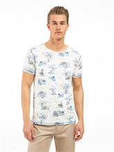 Image sur T-shirt Slim Fit fil flammé et imprimé