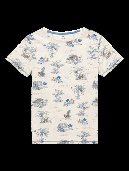 Bild von T-Shirt im Slim Fit aus Flammgarn mit Print