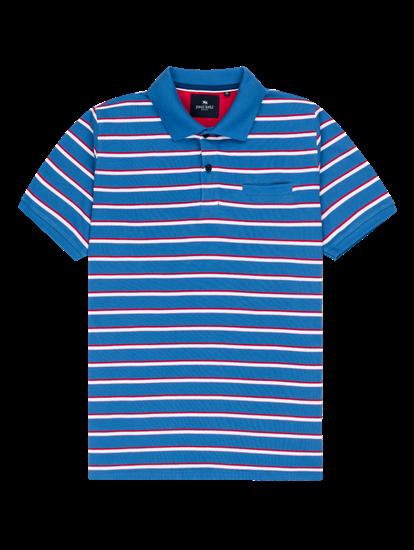 Bild von Polo-Shirt mit Streifen im Custom Fit aus Piqué