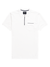 Bild von Polo-Shirt aus Piqué mit Kontraststreifen