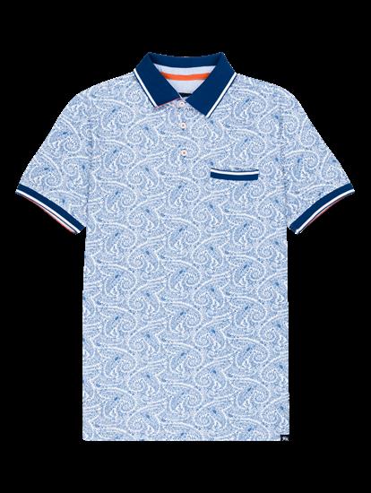 Bild von Polo Shirt im Custom Fit mit Print