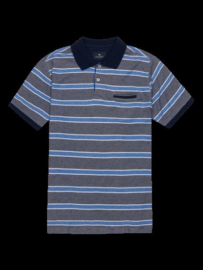 Bild von Polo-Shirt im Custom Fit mit Streifen