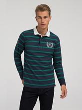 Image sur Shirt de rugby à rayures Custom Fit