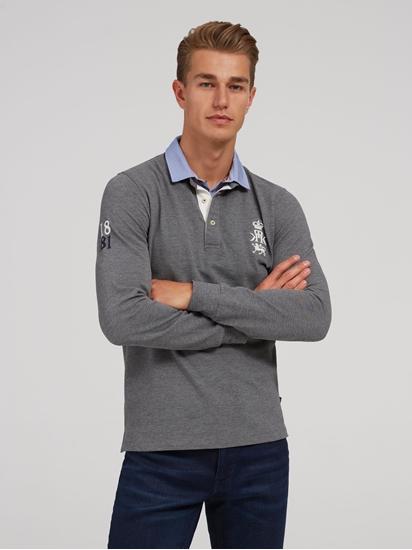 Bild von Polo-Shirt mit eingesetztem Hemdkragen