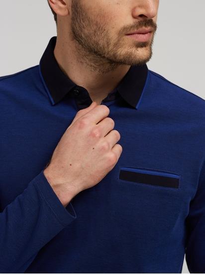 Bild von Polo-Shirt in melierter Optik mit Brusttasche