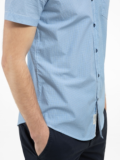 Bild von Hemd mit Micro-Print im Slim Fit