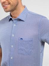 Image sur Hemd aus Leinen mit Print im Custom Fit