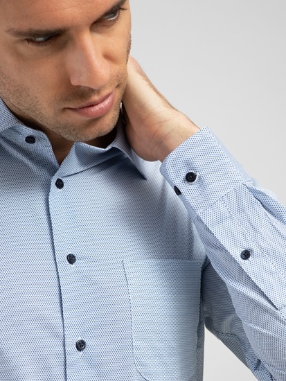 Image sur Chemise Custom Fit avec micro motif