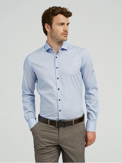 Hemd im Slim Fit mit Micro Print