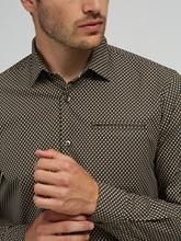 Image sur Chemise Slim Fit imprimé géométrique