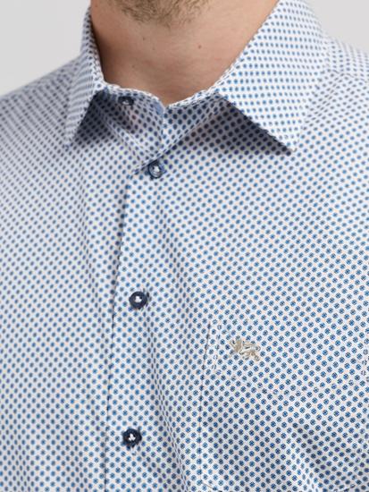 Image sur Chemise Custom Fit à micro-imprimé