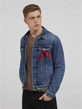 Image sur Veste jean avec bandana