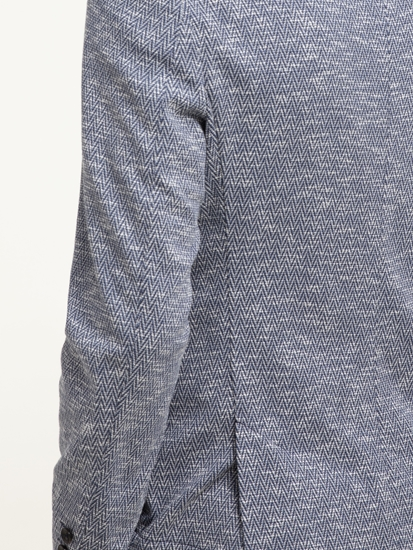 Bild von Jersey Veston mit Fischgrat-Muster