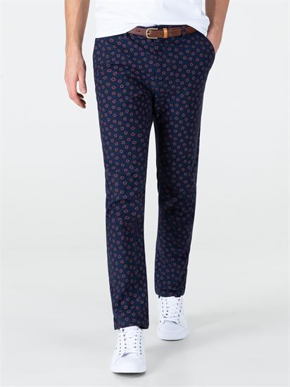 Image sur Pantalon chino imprimé avec ceinture Gürtel STUART