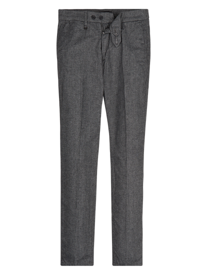 Image sur Pantalon chino Skinny Fit à micro motif BRYAN