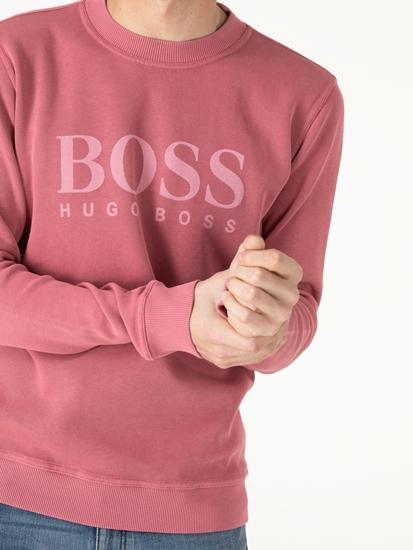 Image sur Pullover avec logo imprimé