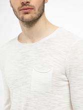 Bild von Pullover aus Flammgarn mit Brusttasche