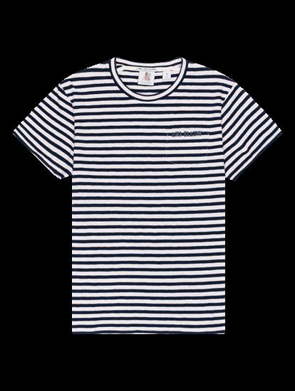 Bild von T-Shirt mit Streifen und Brusttasche