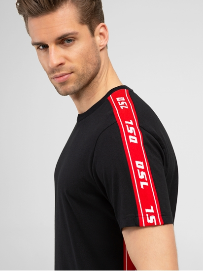 Image sur T-Shirt mit Logo-Streifen