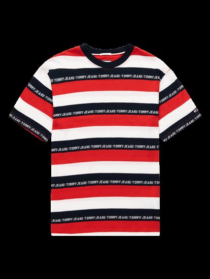 Bild von T-Shirt im Relaxed Fit mit Streifen und Logo