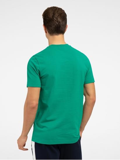 Image sur T-shirt avec empiècement résille et  logo