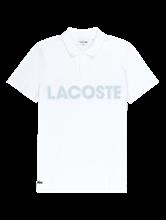 Bild von Polo-Shirt mit Netzeinsatz und Logo-Print