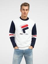 Bild von Sweatshirt in Colourblock-Optik mit Logo