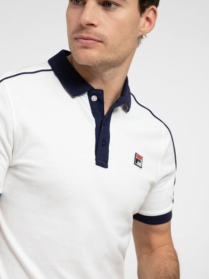 Bild von Polo-Shirt mit Kontrastkragen und Logo