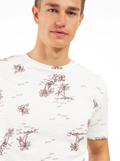 Image sur T-shirt fil flammé et imprimé