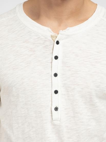 Bild von Shirt aus Flammgarn mit Serafino-Kragen