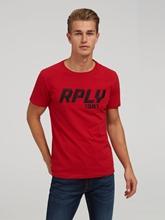 Image sur T-shirt avec logo brodé