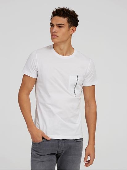 Bild von T-Shirt mit Stickerei und Brusttasche