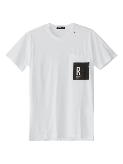 Image sur T-shirt poche poitrine et imprimé