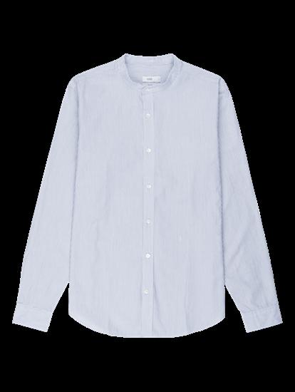 Image sur Chemise à rayures et col Mao