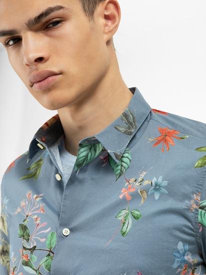 Bild von Hemd mit Blumen-Print RUBEN