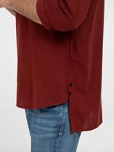 Image sur Chemise Loose Fit à col Mao