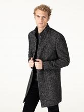Image sur Manteau laine moucheté